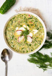 Редис и заправка из ботвы - в супе