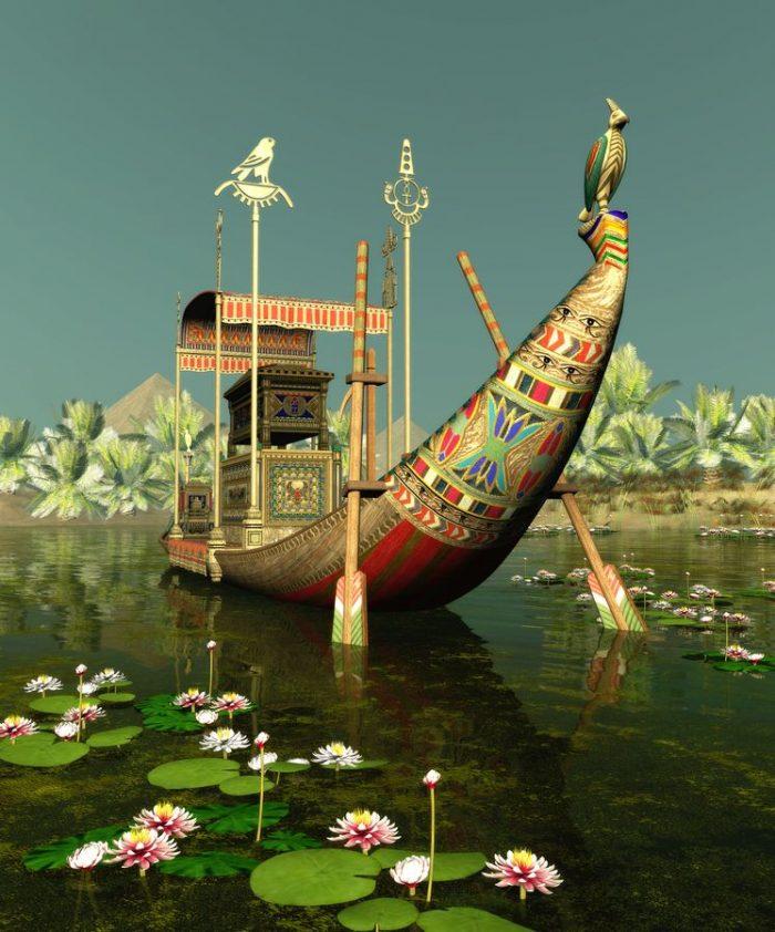 Древние египтяне очень почитали водяную лилию - символ воскрешения из мёртвых
