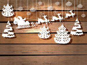 Легкие фигурки из картона создадут новогоднее настроение