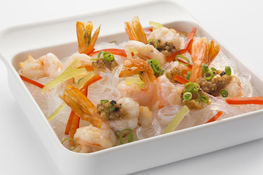 Фунчоза с креветками разнообразит меню экзотическим вкусом