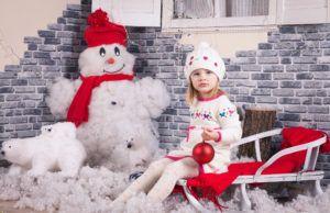 Снеговичок из ваты