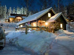 Снег в дизайне дачи