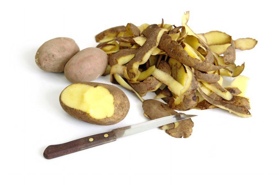 В картофельных очистках остается самое большое количество витаминов