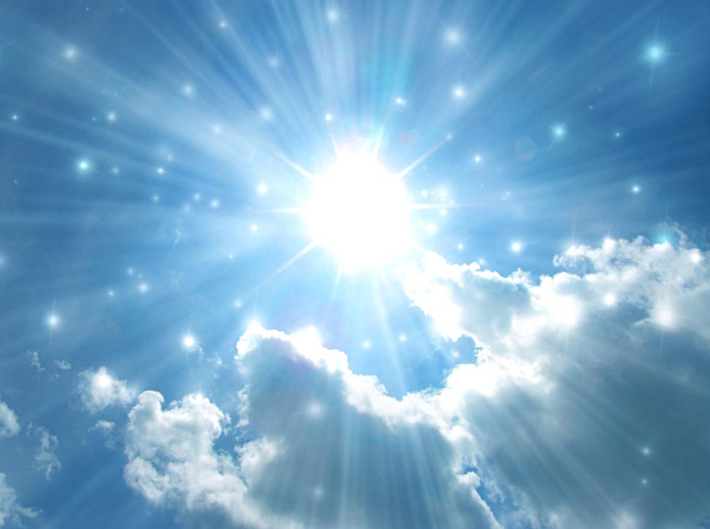 Сияющее солнце