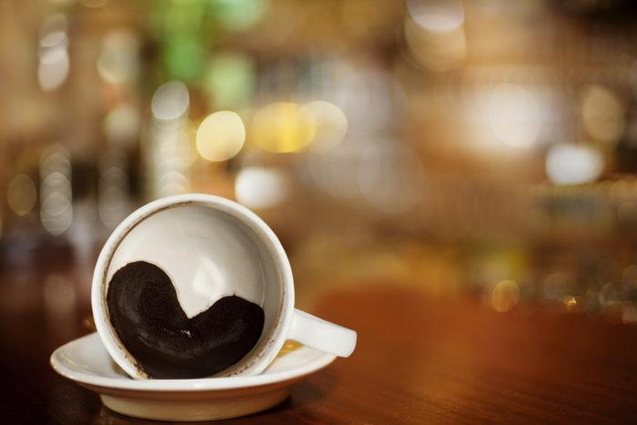 кофейная гуща в чашке