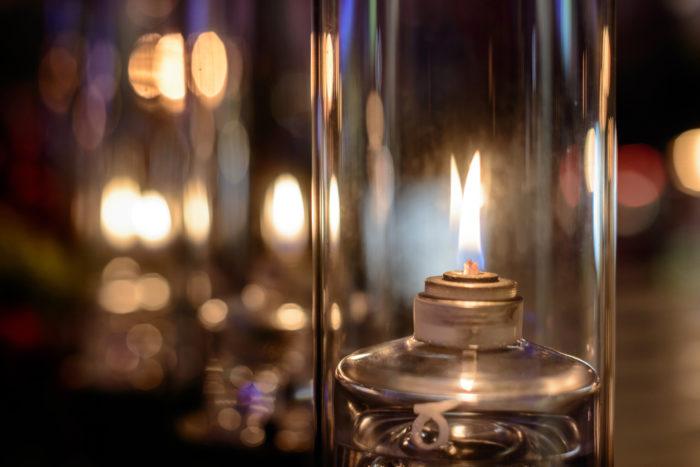 Керосинка, пламя в лампе