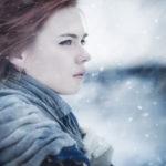 Женщина зимой