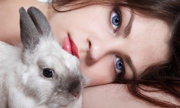 Девушка и кролик