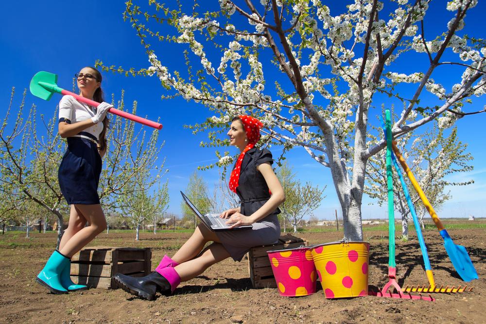 Сад в мае - это время интенсивного труда на приусадебном участке