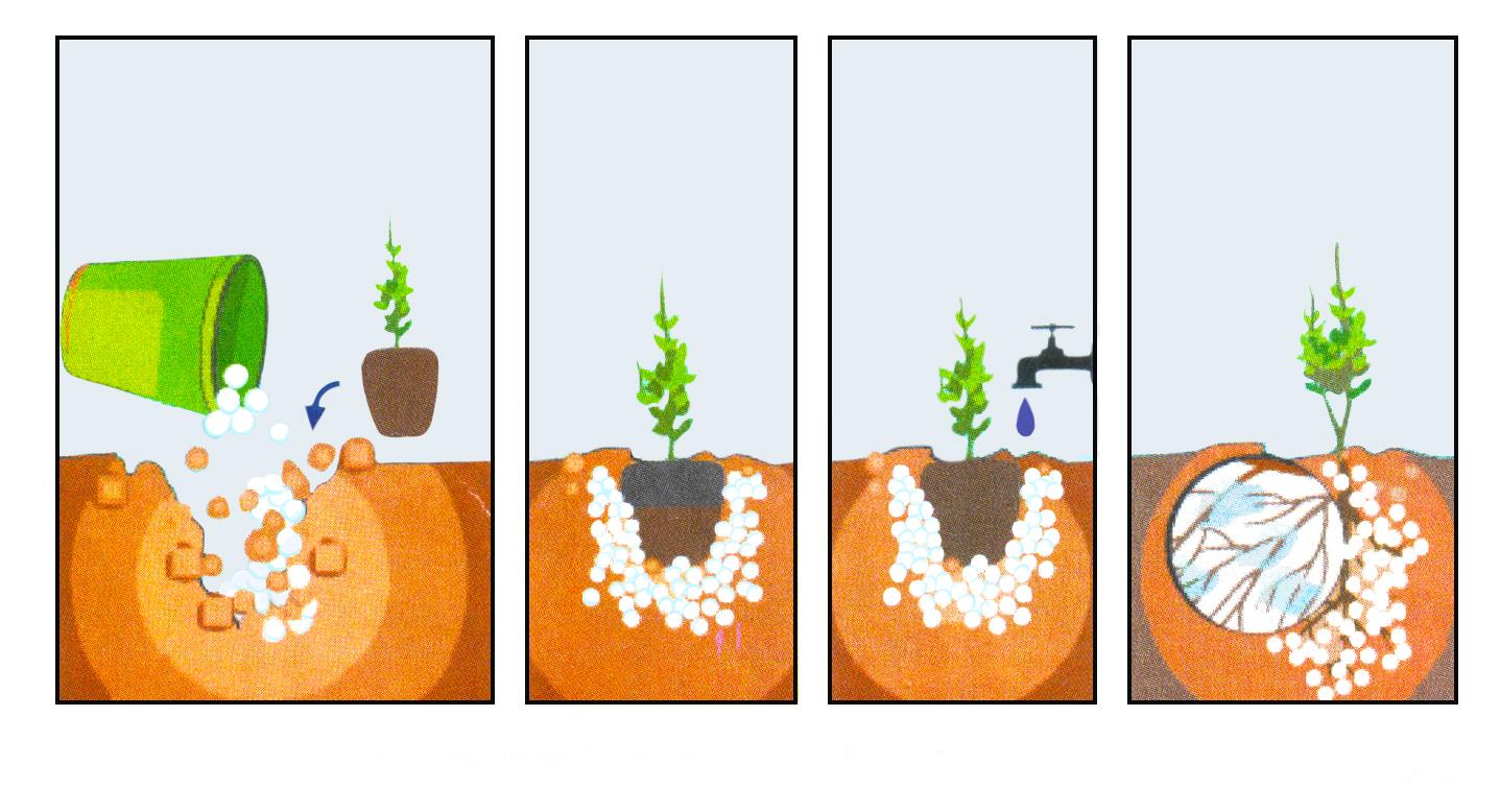 Применение гидрогеля для полива растений на балконе