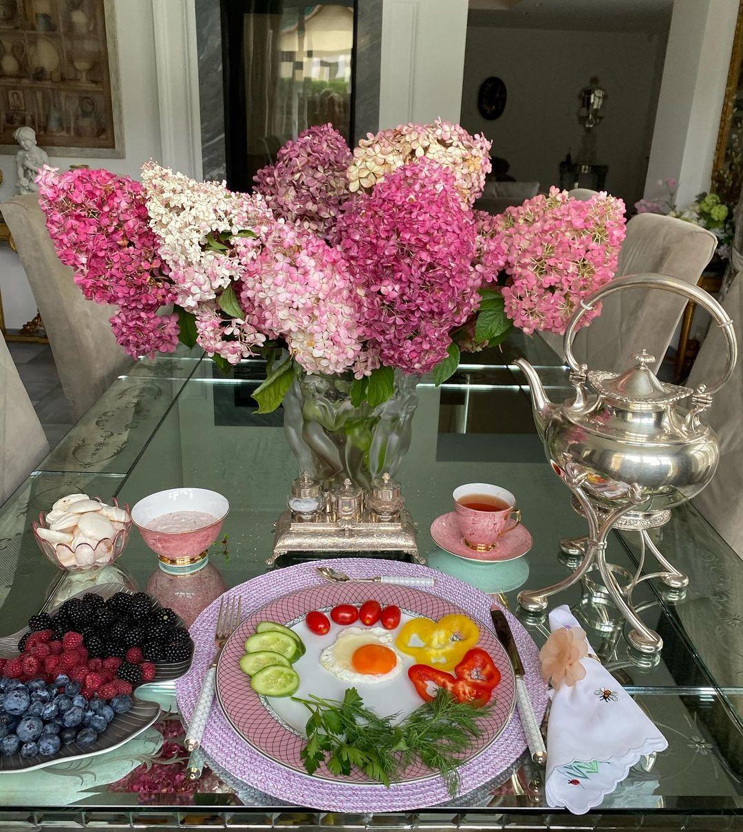Гортензия, Цветы, Завтраки Яны Рудковской