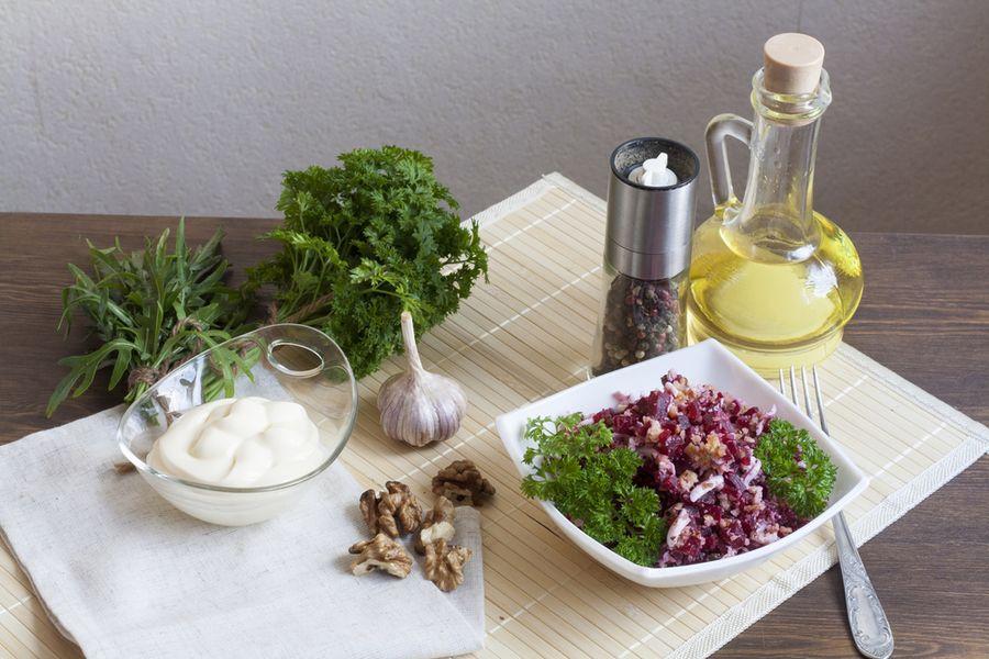 салат из варёной свёклы